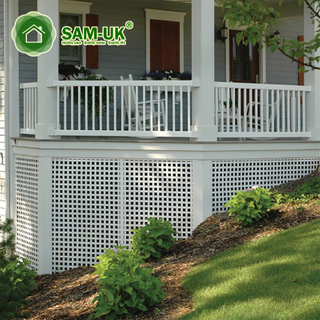 2'x4' vinyl square lattice fence yard