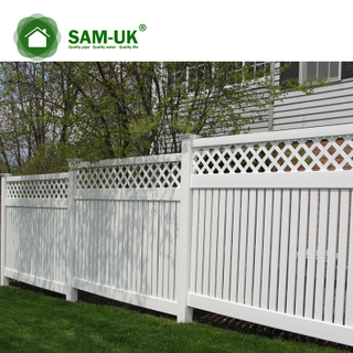 6 x 8 outdoor semi private vinyl fencing with lattice top