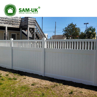 5' x 8' vinyl private fence tongue and groove for outdoor backyard