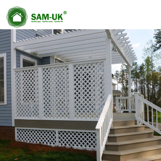 4' X 8' Easy Install Vinyl Diagonal Lattice Fence