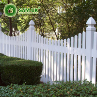 4 ft x 8 ft scalloped vinyl picket fence front yard