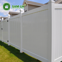 6' x 8' veranda vinyl privacy fencing double gate