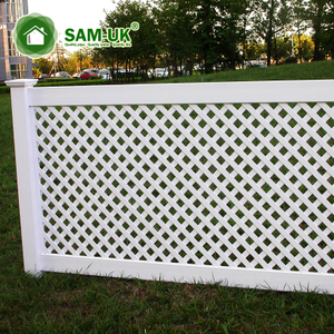 4'x8' semi privacy vinyl lattice fence yard