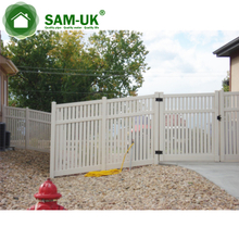 Oriented Single Welded Garden House Pool Yard Use White Pvc Privacy Lattice Fence Gate