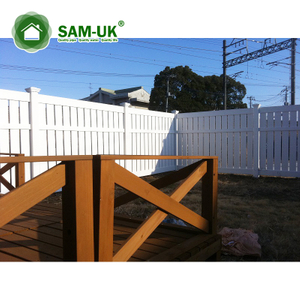 White PVC Fencing Semi Privacy fence on Sale