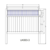White Privacy Fencing 6Ft.Hx8Ft.W Premium Virgin Vinyl Pvc Privacy Fence White