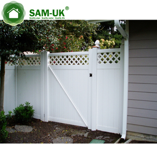 Aluminum mental privacy fence gate farme
