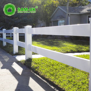 White Popular High Quality Cow Ranch Fence