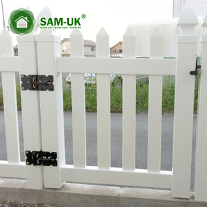 Privacy Picket Fence Double Gate Hardware for Warehouse