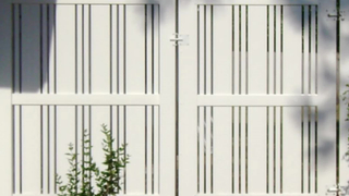Picket White Lowes Vinyl Panels Used Privacy Fence For Houses