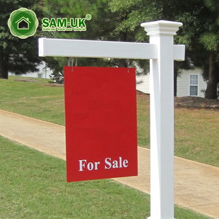 Street Vinyl Pvc Real Estate Sign Post
