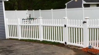 Picket Privacy Palisade Pvc Plastic Vinyl Garden Fence