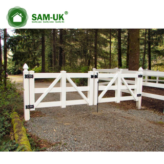 Cheap Three Horse Rail Pvc Picket Fence Gates