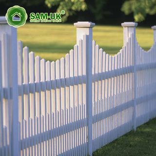 Privacy Palisade Composite Used Vinyl Fence With England Post Cap