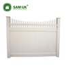White Plastic Yard Picket Pvc Coated Temporary Fence Privacy Fence Price