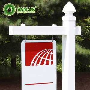Pvc Vinyl Square Real Estate Sign Post