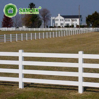 Hot Sale Cheap Easily Assembled Pvc Used Horse Vinyl Fence